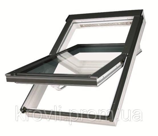 Мансардное окно Fakro влагостойкое белого цвета  55*78
