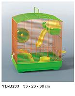 Клетка для хомячка с горкой+АКСЕССУАРЫ.33*23*38см.