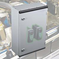 Щит ящик щиток металлический 400х300х150 с монтажной панелью IP66 распределительный управления автоматизации, фото 1