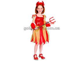 Карнавальный костюм Дьяволица, S/M/L, платье/перчатки/гол.убор