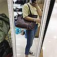Вместительная сумка шоппер ручки на плечо / натуральная кожа (322) Черный, фото 6