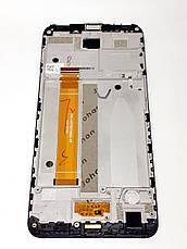 Модуль сенсор и дисплей черный Meizu M6s (M712H, M712Q) оригинал б.у., фото 2