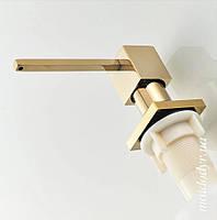 Дозатор миючого засобу Alveus квадратний (золото)