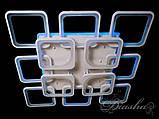 Большая квадратная потолочная светодиодная люстра 8060/8+4WH LED 3color dimmer, фото 3