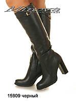 Женские кожаные высокие сапоги на цигейке (размеры 35-41)