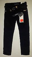 Синие вельветовые брюки для девочек на флисе. Венгрия Рост 110-116