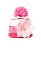 Детская красивая теплая вязаная шапочка с бумбоном, Польша.