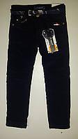 Черные вельветовые брюки на флисе для девочек. Венгрия Рост 116-122