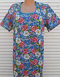 Платье с коротким рукавом 54 размер Цветы, фото 3