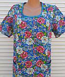 Платье с коротким рукавом 54 размер Цветы, фото 5