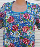 Платье с коротким рукавом 54 размер Цветы, фото 6