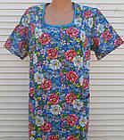 Платье с коротким рукавом 54 размер Цветы, фото 9
