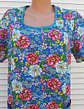Платье с коротким рукавом 54 размер Цветы, фото 10