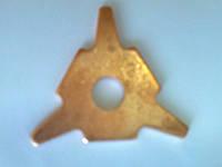 Шайба трёх угольная звёздочка для споттера омеднённая 2мм