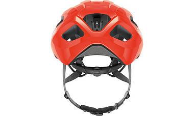Шолом велосипедний ABUS MACATOR M 52-58 Shrimp Orange, фото 3
