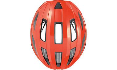 Шолом велосипедний ABUS MACATOR M 52-58 Shrimp Orange, фото 2