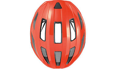 Шолом велосипедний ABUS MACATOR L 58-62 Shrimp Orange, фото 2