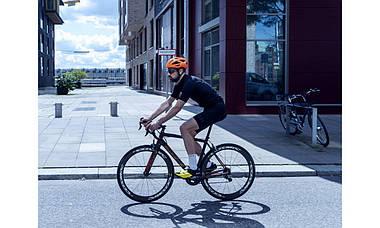 Шолом велосипедний ABUS MACATOR L 58-62 Shrimp Orange, фото 3