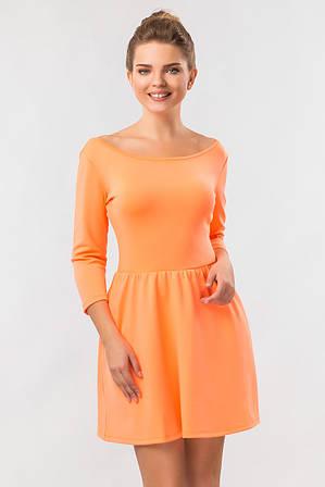 Платье Скейтер неонового цвета M