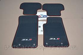 Chevrolet Camaro ZL1 2012-15 коврики велюровые передние задние новые оригинальные