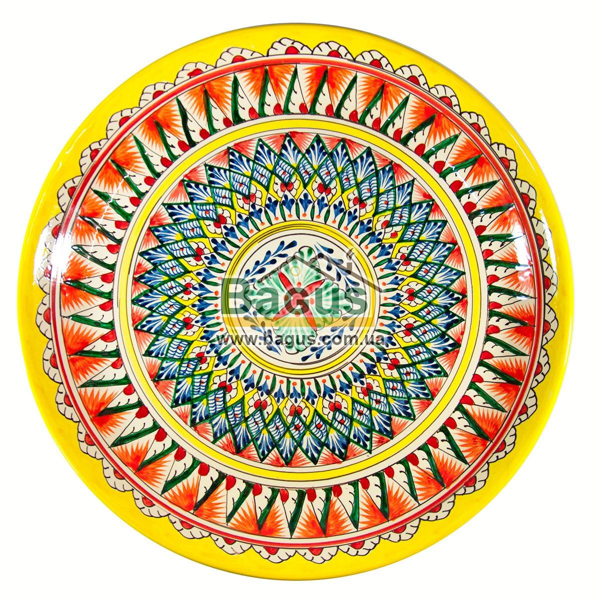 Ляган узбекский (тарелка узбекская) диаметр 37см ручная работа 3704-14