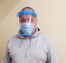 Профессиональный защитный экран для лица (усиленный)