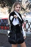 Мод 103. Сумка жіноча з хутра чорного кролика., фото 4