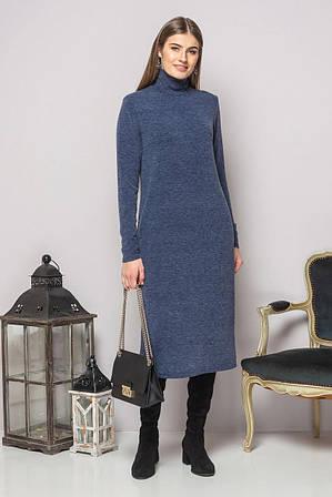 Платье-гольф сине-серого цвета S