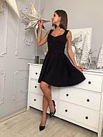Замшевое черное платье