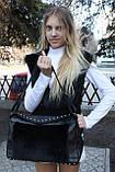 Мод 104. Сумка женская из меха черного кролика, фото 2