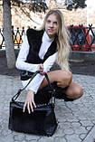 Мод 104. Сумка женская из меха черного кролика, фото 3