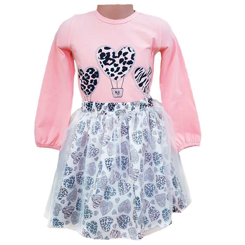 Костюм для девочки с фатином 98-116 (3-6 л.) 20203, кофта, юбка
