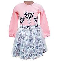 Костюм для девочки с фатином 98-116 (3-6 л.) 20203, кофта, юбка                                     , фото 1