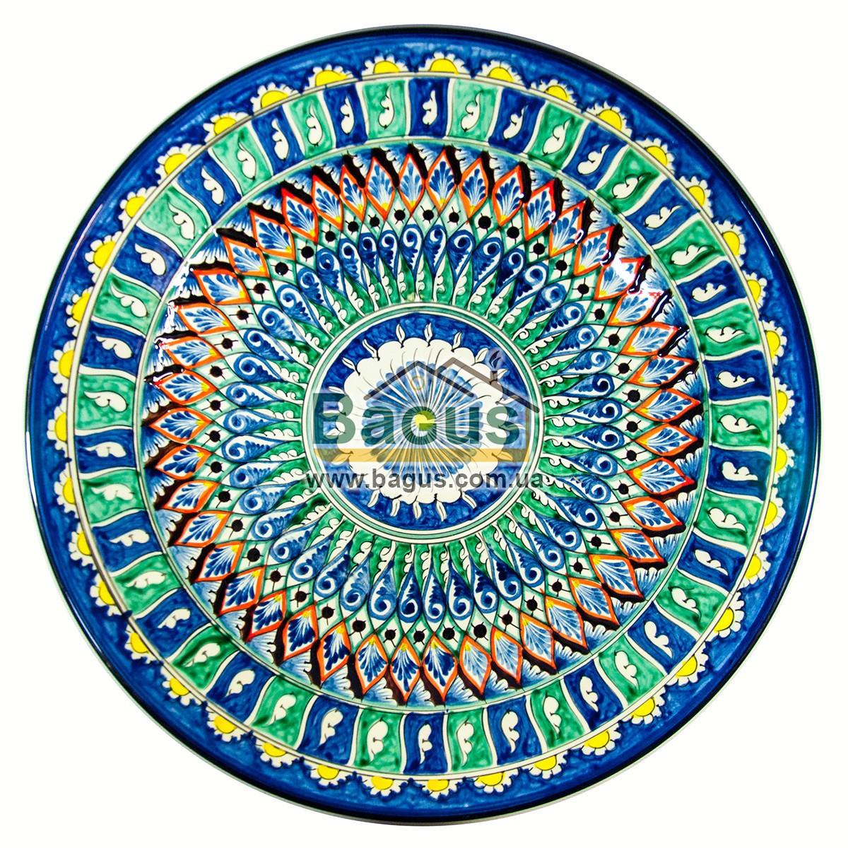 Ляган узбецький (тарілка узбецька) діаметр 42см ручна робота 4205-26
