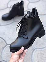 Ботинки женские кожаные классические на низком каблуке осень весна повседневные 36 размера M.KraFVT 1014 2021