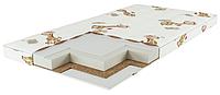 Матрас детский в кроватку 120х60 кокос-поролон-гречневая луска