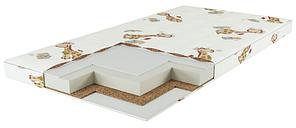 Матрац дитячий в ліжечко 120х60 кокос-поролон-гречана луска