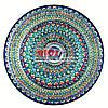 Ляган (узбекская тарелка) 55х6см для подачи плова керамический (ручная роспись) (вариант 5)