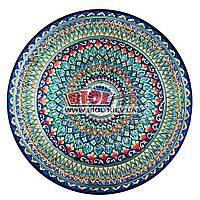 Ляган (узбекская тарелка) 55х6см для подачи плова керамический (ручная роспись) (вариант 5), фото 1