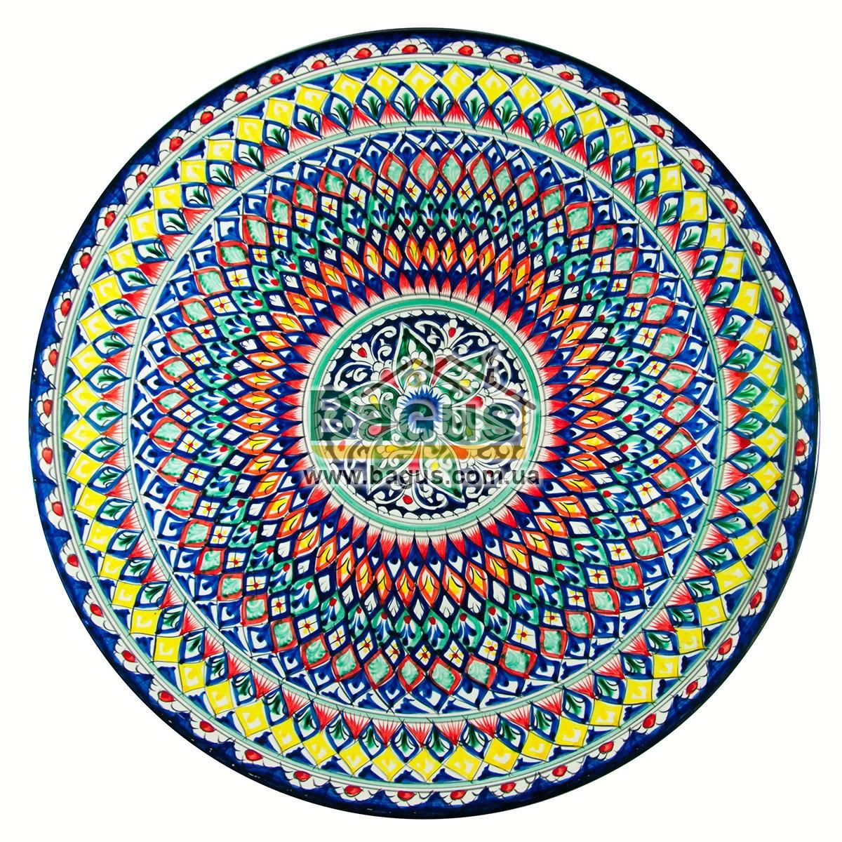 Ляган узбекский (тарелка узбекская) диаметр 55см ручная работа 5506-06