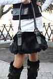 Мод 102. Сумка женская из меха черного кролика., фото 3