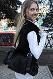 Мод 102. Сумка женская из меха черного кролика., фото 4