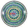 Ляган (узбекская тарелка) 33х6,5см для подачи плова керамический (ручная роспись) (вариант 6)