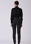 Женские брюки в черно белую полоску Lesya Фриер 2, фото 3