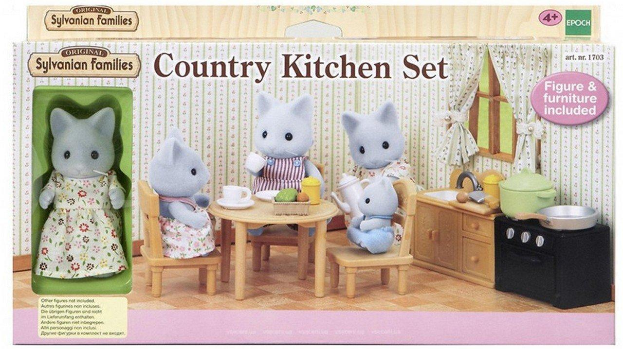Sylvanian Families 5164 - набор с фигуркой Кошки Мамы Кухня Epoch
