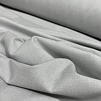 """Бавовняна тканина з принтом """"Рогожка"""" сіра"""