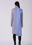 Тепле шерстяне асиметричне плаття з ангори сіро блакитне Lesya Тефи 12, фото 2