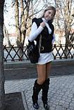 Мод 105. Сумка жіноча з хутра чорного кролика., фото 4