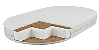 Матрас детский в овальную кроватку Oval (120х70х10см) Кокос поролон кокос