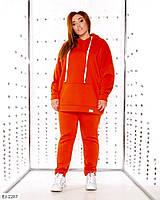 Теплый женский спортивный костюм кенгуру больших размеров: 48-50, 52-54, 56-60 арт. 6001